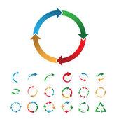 81 flèchessignes circulaires — Vecteur