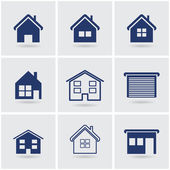 Icons houses — Stock Vector