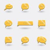 Icons chat — Stock Vector