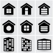 Stock Vector: Icons houses