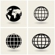 Stock Vector: Icons globes