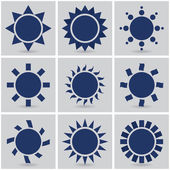 Icons suns — Stock Vector