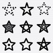 Icons stars — Stock Vector