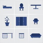 Iconos furnniture — Vector de stock