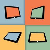 平板电脑 — 图库矢量图片