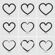 Icons hearts — Stock Vector #37756107