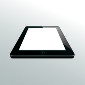 Tablet black. perspective view. — Stockvektor