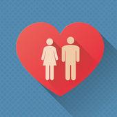 Love concept — Stockvektor