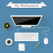 Workspace — Stock Vector