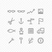 Set icons — Vecteur
