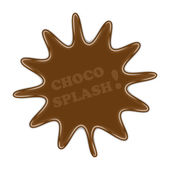 Choco splash — Stock Vector