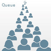 Queue. — Stock Vector