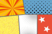 Pop art style blank — Stock Vector