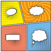 Blank speech bubbles — Vettoriale Stock