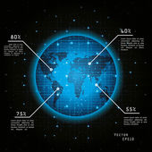 Earth from space — Stock Vector