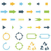 Colored arrows — Vector de stock
