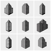 Building icons — Vecteur