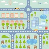 şehir haritası — Stok Vektör