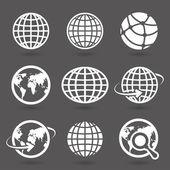Icon globes — Stock Vector