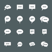 Chat icons — Stockvektor