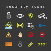 Security icons — Stock Vector