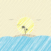 Seascape — Stock Vector