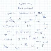 School notebook — Stock Vector