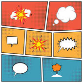 Blank speech bubbles — Stock Vector