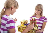 Gift giving — Foto Stock