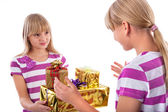 Gift giving — Stock Photo