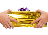 Gift giving and receiving — Stock Photo
