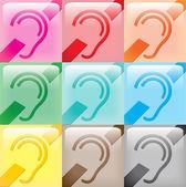 9 iconos muestra sordo — Foto de Stock