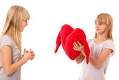 Giving a heart — Stock Photo
