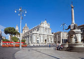 Catania's main square — Stock Photo