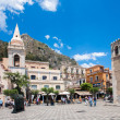 Stock Photo: Taormintown main square center