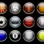 Set of sports balls icon — Stock Vector #25928275