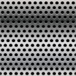 Stock Vector: Seamless steel perforated steel