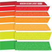 современный дизайн-макет — Cтоковый вектор