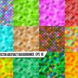 Set of abstract colorful backgrounds colorful — Stock Vector
