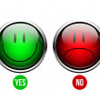 Stock Vector: Yes, No button