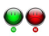 Yes, No button — Stock Vector