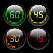 Temporizador digital — Vector de stock