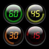 Digital Countdown Timer — Stock Vector