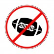 Sign prohibiting ball for Americfootball — Stock vektor #27455667