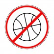 Sign prohibiting basketball — Stok Vektör #27455823