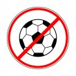 Sign prohibiting a football — Stock Vector
