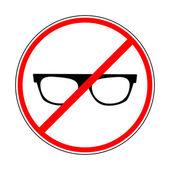 Segno che vieta gli occhiali da sole — Vettoriale Stock