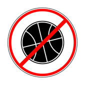 Sign prohibiting basketbal — Stock Vector
