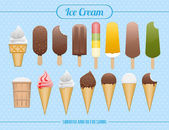 Set of ice cream — Stock Vector