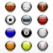 Stock Vector: Sports ball icon